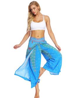 Stylish Print High Waist Breathable Loose Yoga Pants