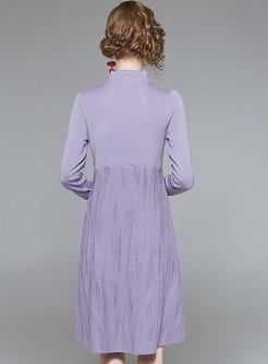 Fashion Standing Collar High-rise Wool Sweater