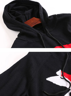 Trendy Hooded Cartoon Pattern Wool Hoodies