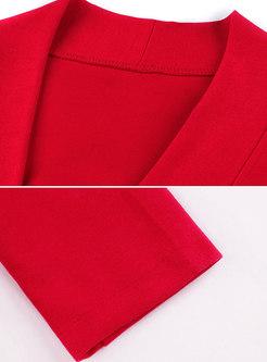Stylish Monochrome Shirred Rome Trench Coat