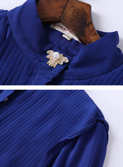Stylish Lantern Sleeve Single-breasted Blouse