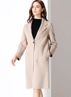 Elegant Turn Down Collar Slim Coat
