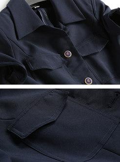 Stylish Autumn Short Sleeve Blouse & Pencil Pants