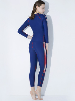 Fashion Solid Color Quick-dry Tracksuit