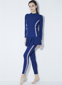 Brief Contrast Color Quick-dry Tracksuit