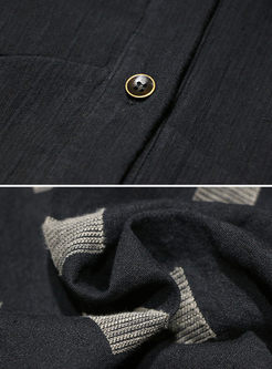Single-breathed Stand Collar A Line Coat