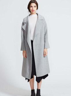 Stylish Elegant Solid Color Cashmere Coat