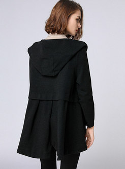 Brief Solid Color Hooded Loose Thicken Short Coat