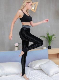 Elastic Waist Plus Size Foot Stepping Leggings