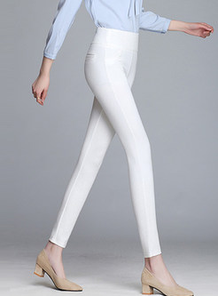 Spring Slim High Waist Thin Pencil Pants