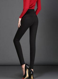 High Waist Elastic Slim Plus Size Pencil Pants
