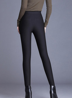 Winter Slim Elastic Waist Thick Plus Velvet Pants