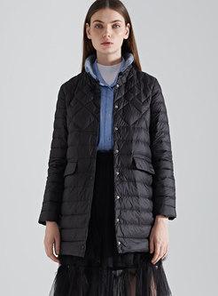 Brief Winter Black Plus Size Down Coat