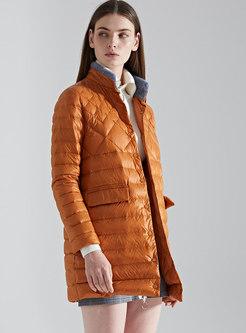 Caramel Winter Straight Plus Size Down Coat