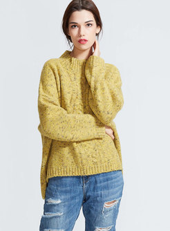 Crew Neck Long Sleeve Loose Sweater