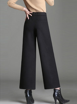 Fashion Easy-matching Wide Leg Pants With Pocket