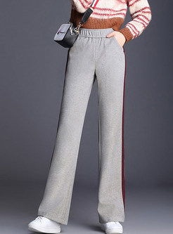 Fashion Striped Easy-matching Long Flare Pants
