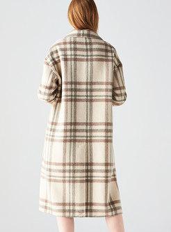 Stylish Notched Double-sided Hairy Straight Coat