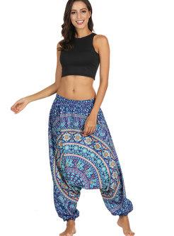 Casual Multicolor Breathable Wide Leg Yoga Pants