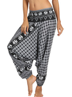 Fashion Digital Print All-matched Lantern Yoga Pants