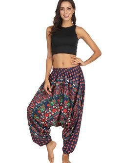 Casual Printed Loose Breathable Lantern Yoga Pants