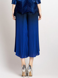 Stylish Pleat High Waist Wide-leg Pants