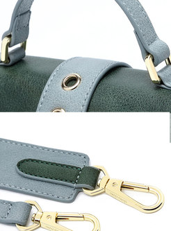 Trendy Casual All Matched Magnetic Lock Crossbody Bag