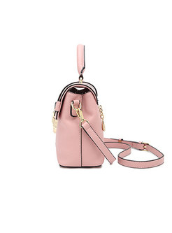 Trendy All-matched Clasp Lock Crossbody Bag