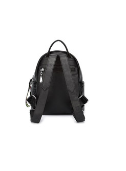 Trendy Black All-matched Zipper Pocket Backpack
