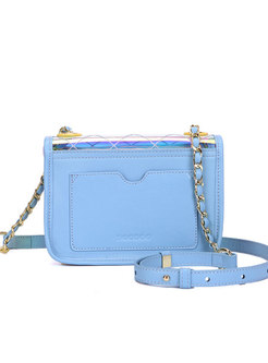 Stylish Magnetic Lock Perspective Crossbody Bag