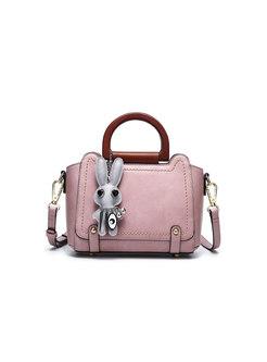 Stylish Casual Pure Color Top Handle & Crossbody Bag