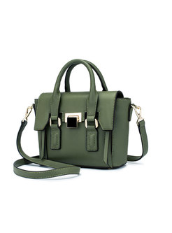 Trench Green All Matched Wing-shape Top Handle Bag