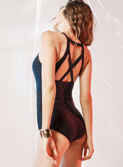 Sexy Mesh Splicing See-through Swimwear