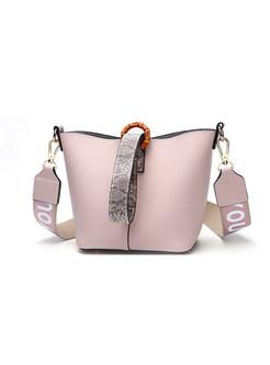 Trendy Easy-matching Buckle Bucket Crossbody Bag
