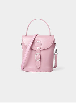 Stylish Casual Leather Bucket Crossbody Bag