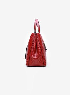 Fashion Brief Leather Zippered Big Crossbody Bag