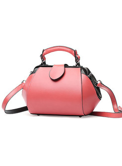 Color-blocked Zippered Top Handle & Crossbody Bag