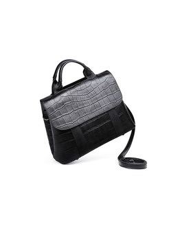 Fashion Leather Plaid Crossbody Bag