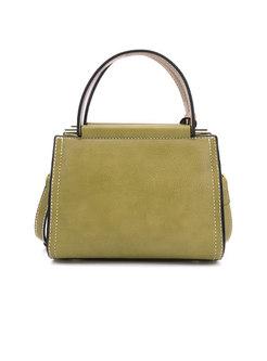 Trendy Zipper Easy-matching Top Handle Bag