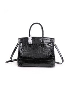 Leather Crocodile Pattern Bridal Handbag