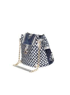 Trendy Denim Drilled Tassel Shoulder Bag & Backpack