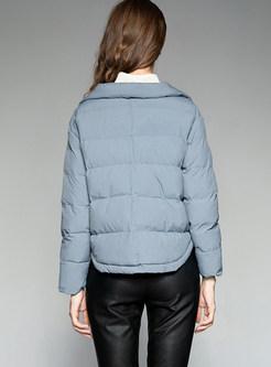 Single-breasted Slim Thermal Down Coat