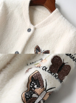 Autumn Embroidered All-matched Short Buttoned Coat