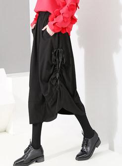 Stylish High Waist Easy-matching Irregular Skirt
