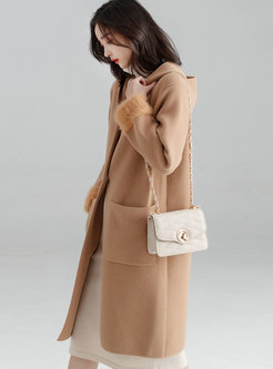 Autumn Hooded Double-sided Cashmere Thicken Coat