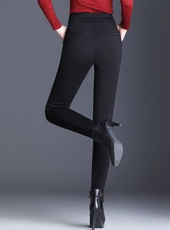 Black High Waist Slim Thick Pencil Pants