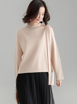 Chic Winter Off Shoulder Knitted Sweater