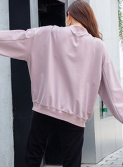 Casual Loose Character Print Long Sleeve Sweatshirt