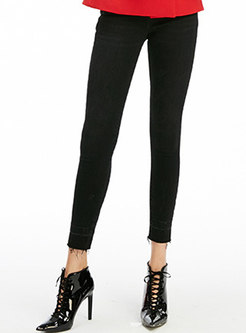 Black High Waist Skinny Elastic Pencil Pants