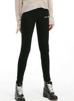 Casual Gathered Waist All-matched Elastic Pants